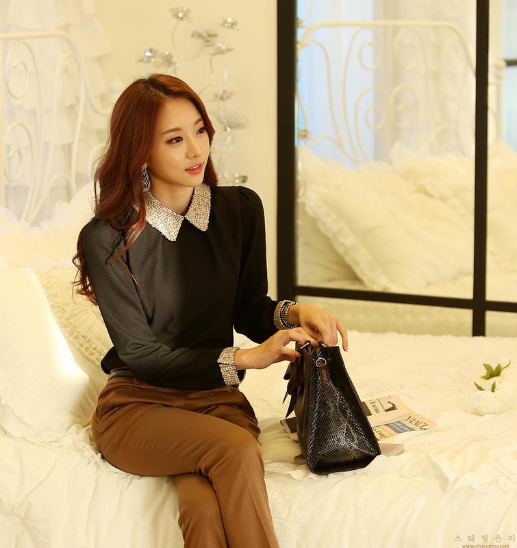 Новая блузка с воротником для стильных женщин  - 11
