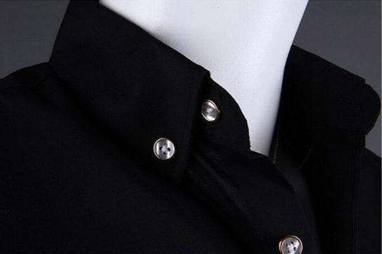 Летняя тонкая рубашка для мужчин с коротким рукавом  - 9
