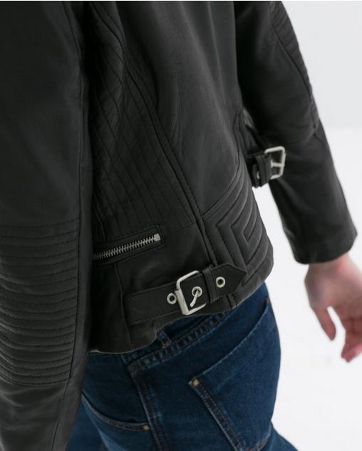 Кожаная куртка бомбардировщик для женщин   - 3