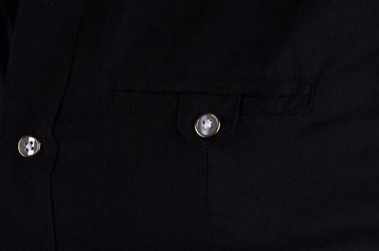 Летняя тонкая рубашка для мужчин с коротким рукавом  - 10