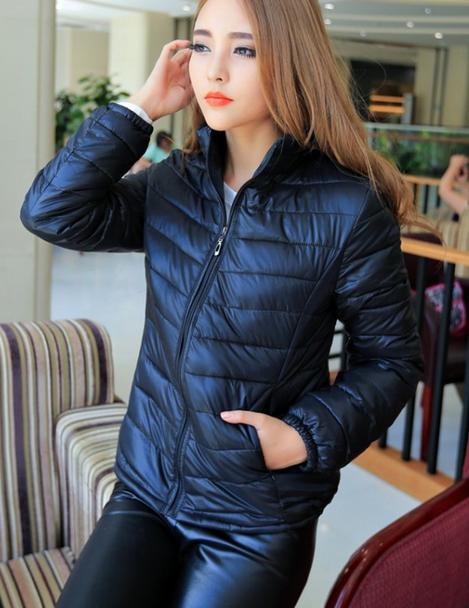 Короткая тонкая утолчённая куртка для женщин  - 5