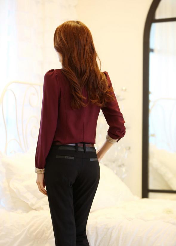 Новая блузка с воротником для стильных женщин  - 4