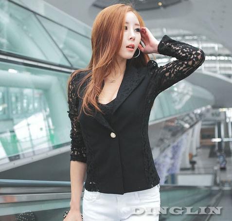 Офисная блузка с длинным рукавом для женщин  - 2