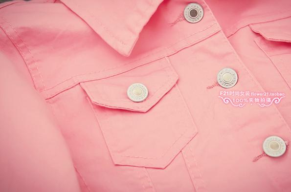 Джинсовая куртка с воротником для женщин  - 5