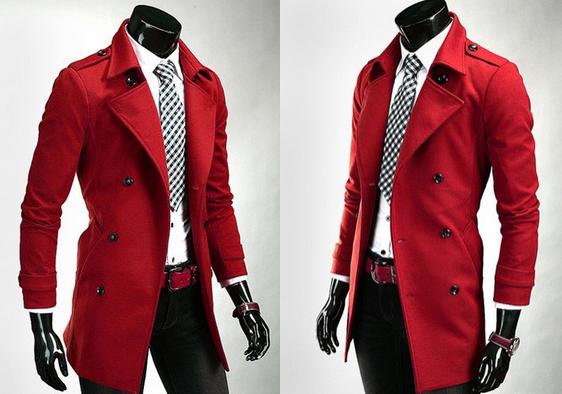 Стильное мужское пальто, зимняя и весенняя  - 1