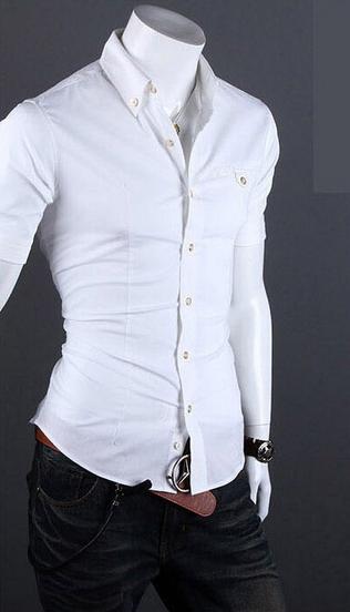 Летняя тонкая рубашка для мужчин с коротким рукавом  - 2