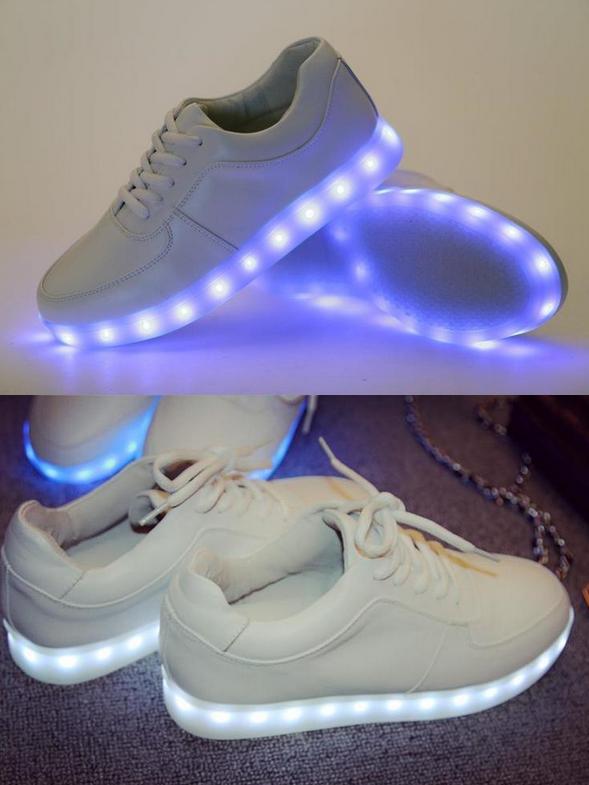 Красочные светящиеся кроссовки для женщин  - 9