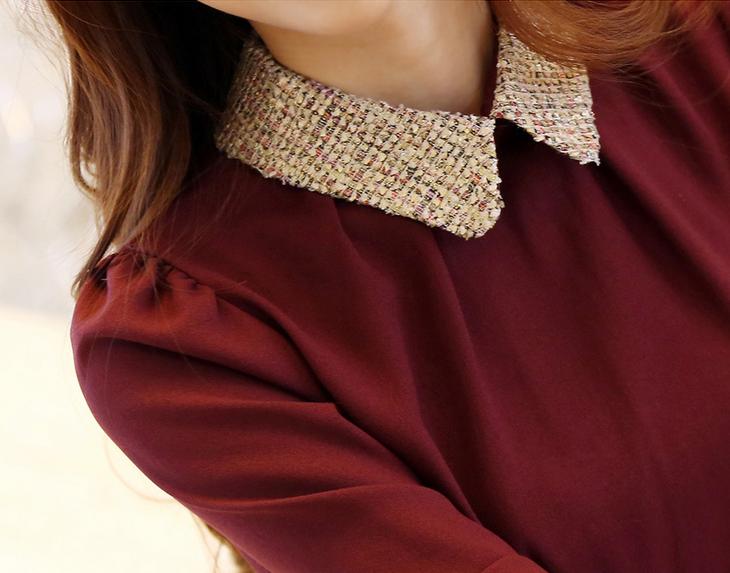 Новая блузка с воротником для стильных женщин  - 2