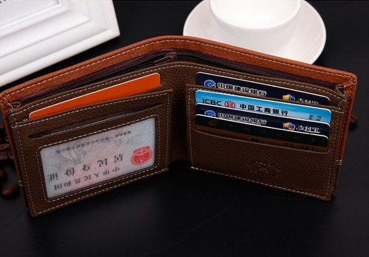 Мужской короткий кошелёк для мужчин - 7
