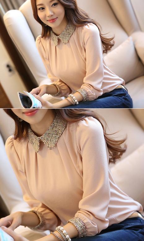 Новая блузка с воротником для стильных женщин  - 5