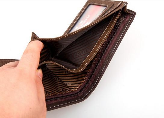 Мужской короткий кошелёк для мужчин - 10
