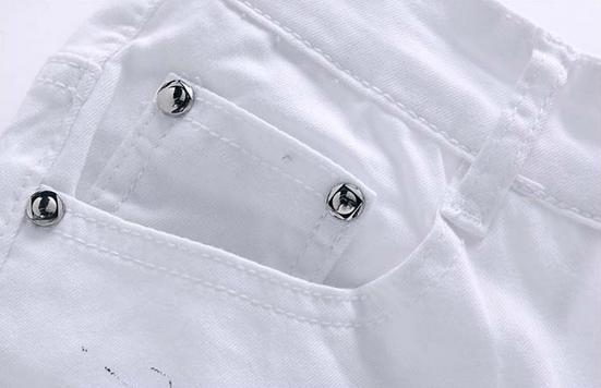 Белые узкие джинсы для мужчин - 4
