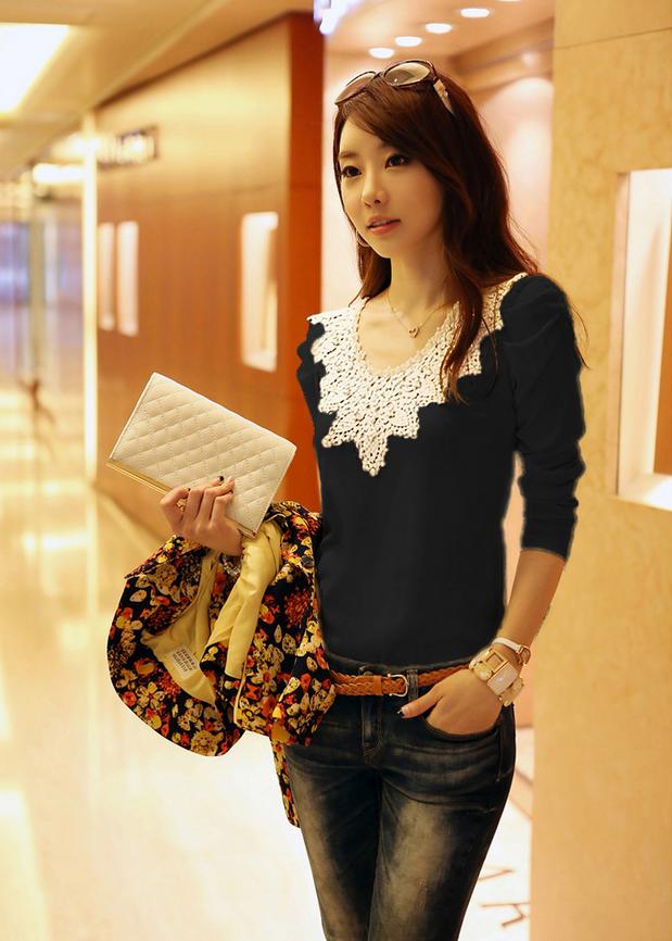Милая элегантная блузка для женщин  - 9