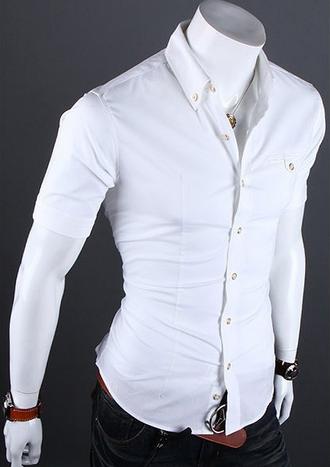 Европейский стиль, модная рубашка  - 1