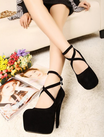 Сексуальные туфли с ремешком для женщин  - 3