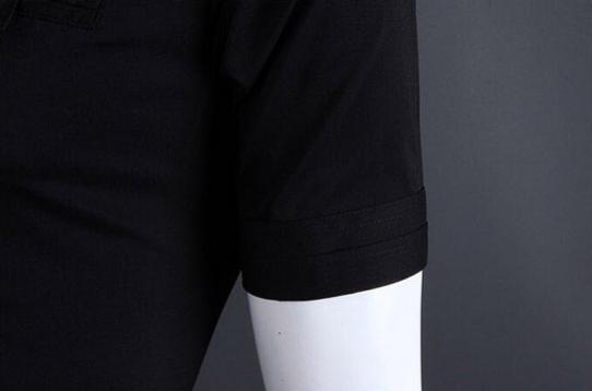 Летняя тонкая рубашка для мужчин с коротким рукавом  - 11