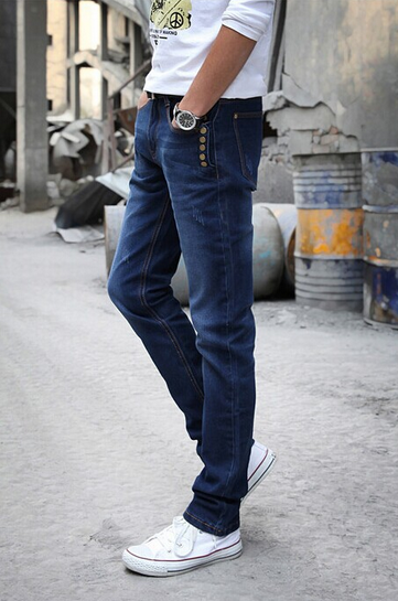 Модные повседневные джинсы для мужчин  - 2