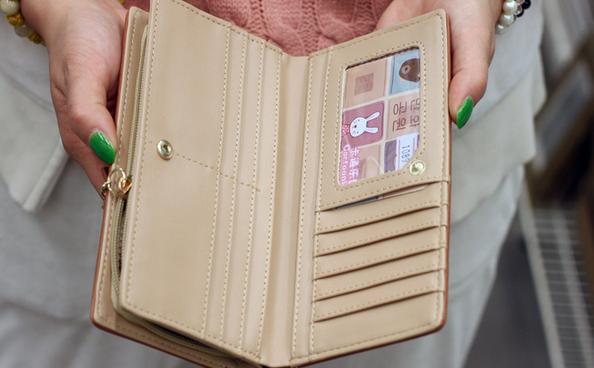 Стильный кожаный кошелёк для женщин  - 3