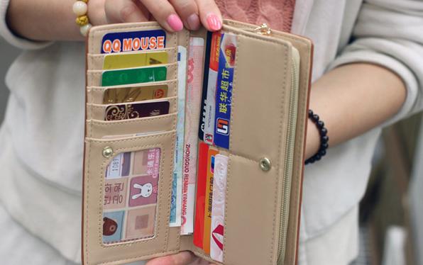 Стильный кожаный кошелёк для женщин  - 4