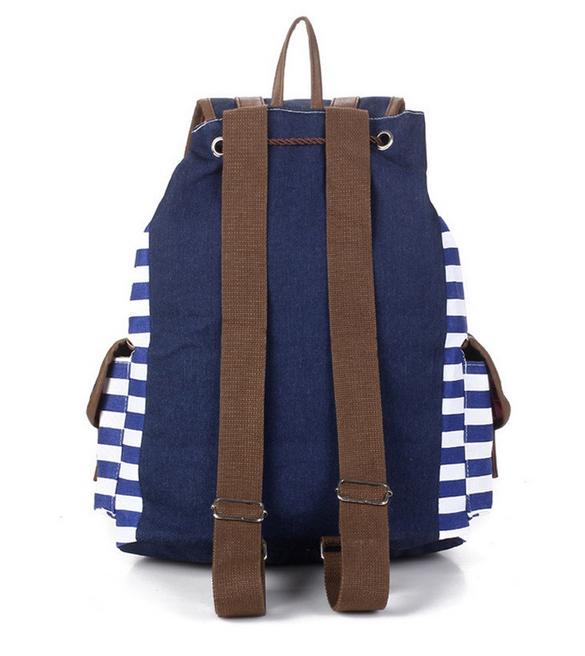 Полосатый рюкзак для женщин - 6