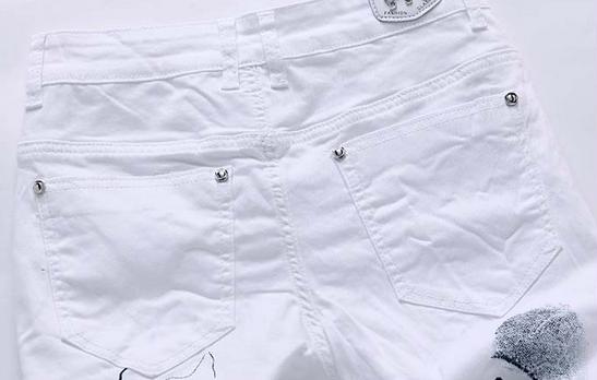 Белые узкие джинсы для мужчин - 6