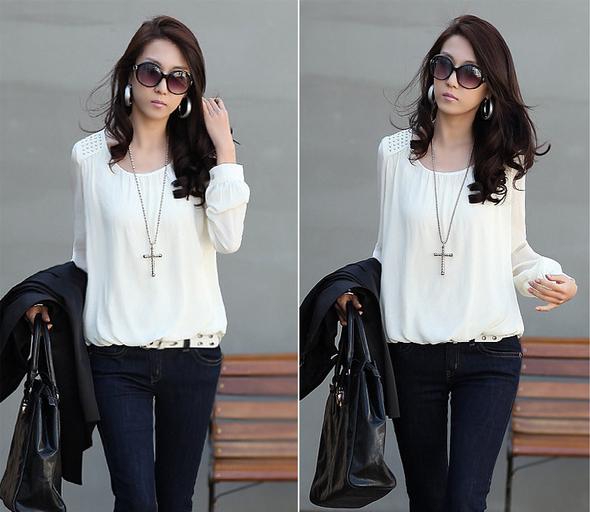 Новая блузка с красивым рукавом для женщин  - 2