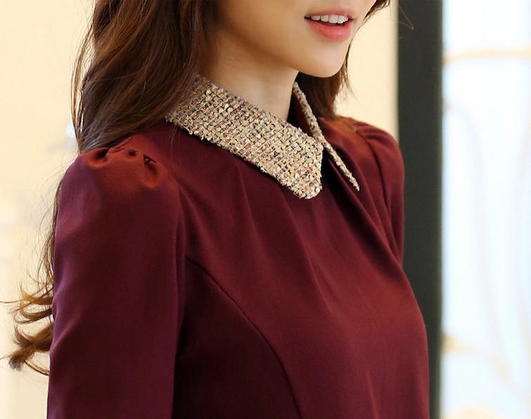 Новая блузка с воротником для стильных женщин  - 1