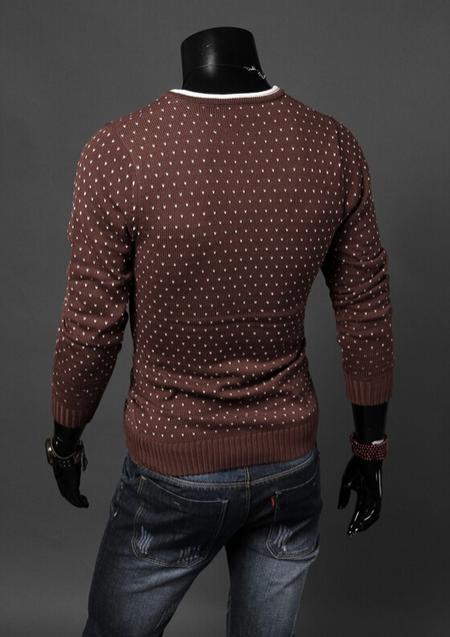 Мужской классический свитер для мужчин  - 2
