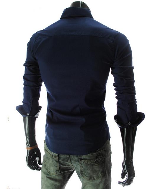 Новая модная рубашка с длинными рукавами для мужчин  - 3