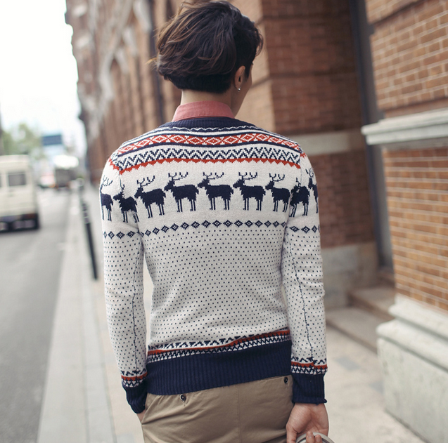 Свитер рождественский олень для мужчин  - 1
