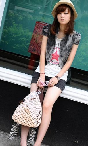 Новый женский рюкзак с краской  - 5