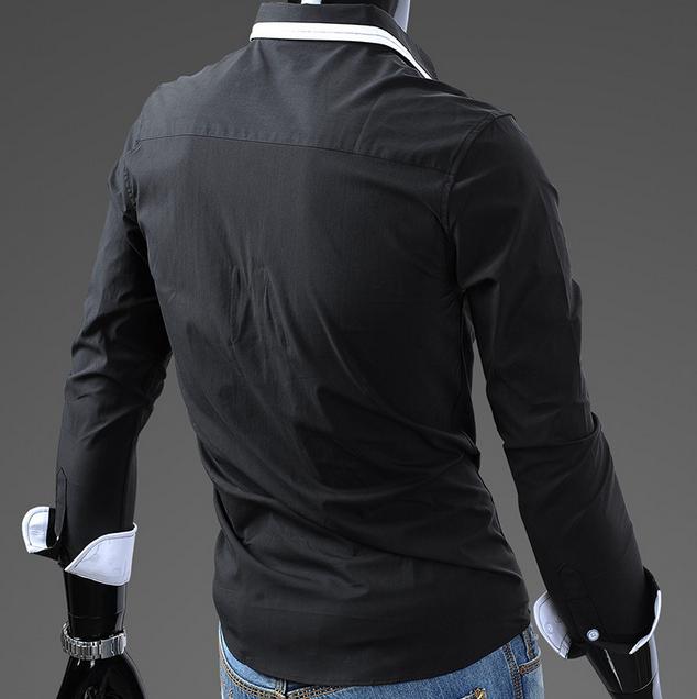 Тонкая стильная рубашка для мужчин  - 4