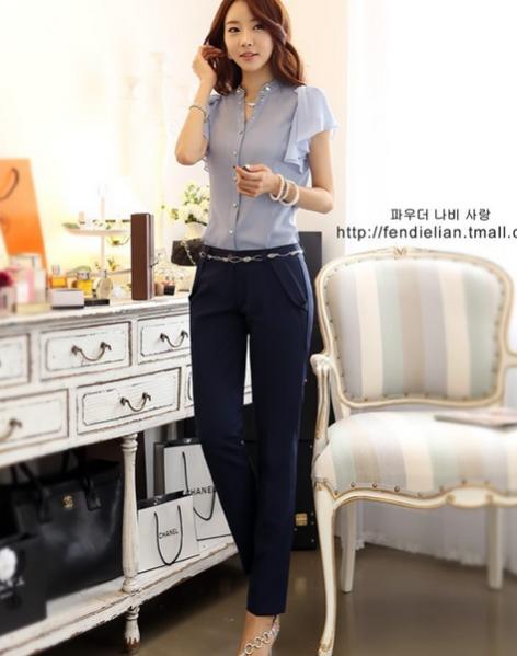 Летняя блузка с коротким руковом для женщин  - 8