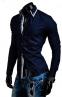 DesignSlim мужские рубашки с длинным рукавом  - 8