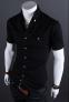 Летняя тонкая рубашка для мужчин с коротким рукавом  - 6