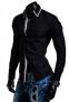 DesignSlim мужские рубашки с длинным рукавом  - 5
