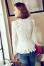 Тонкая прозрачная блузка для женщин  - 6