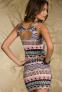 Элегантное лоскутное платье для женщин  - 4
