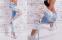 Свободные кружевные джинсы для женщин - 4