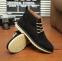 Кожаные тёплые ботинки для мужчин  - 4