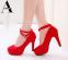 Сексуальные европейские туфли с открытым носком для женщин  - 2
