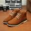 Кожаные тёплые ботинки для мужчин  - 1