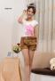 Летние короткие шорты с поясом для женщин  - 2
