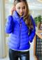 Короткая тонкая утолчённая куртка для женщин  - 1