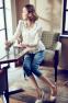 Тонкая прозрачная блузка для женщин  - 2