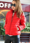 Короткая тонкая утолчённая куртка для женщин  - 7