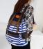 Полосатый рюкзак для женщин - 3