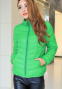 Короткая тонкая утолчённая куртка для женщин  - 10