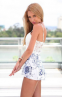 Белое сексуальное кружевное платье для женщин  - 4