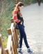 Упругие с высокой талией джинсы для женщин  - 7